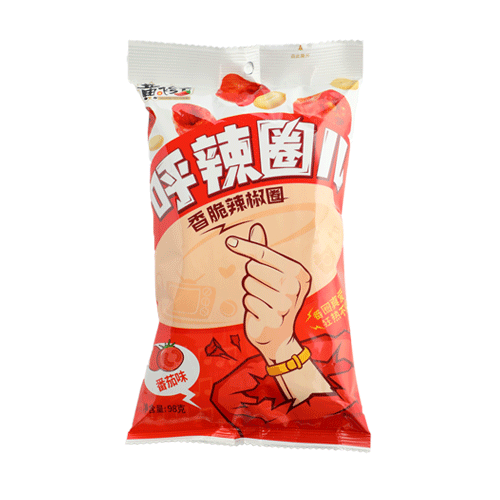 呼辣圈儿(香脆辣椒圈)番茄味